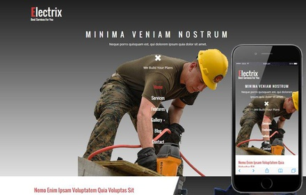 Electrix a Industrial Category Flat Bootstrap Responsive Web Template