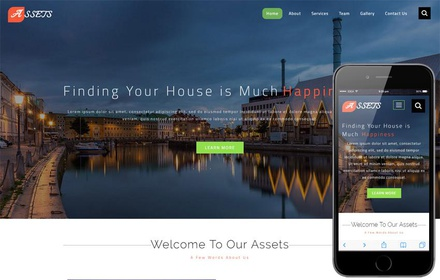 Assets a Real Estate Category Bootstrap Responsive Web Template