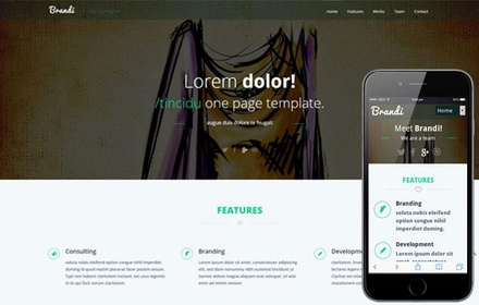 Brandi Corporate Flat Responsive web template