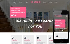 Planner An Interior Category Flat Bootstrap Responsive Web Template