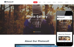 Photocall a Photo Gallery Category Bootstrap Responsive Web Template