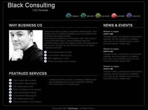 Black Consulting Free CSS Template