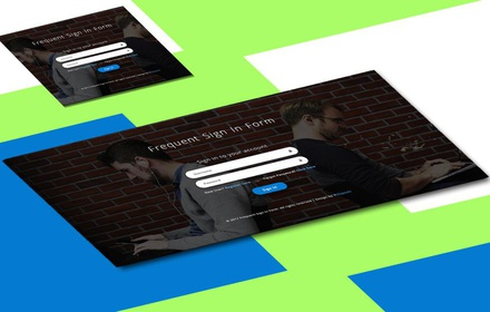 Frequent Sign in Form a Responsive Widget Template