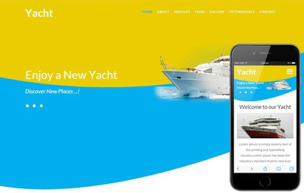 Yacht a Transport Category Flat Bootstrap Responsive Web Template