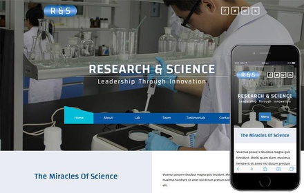 R & S a Medical Category Bootstrap Responsive Web Template