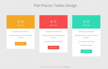 Flat Precious Tables Design Widget Template