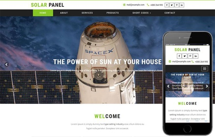 Solar Panel an Industrial Category Bootstrap Responsive Web Template