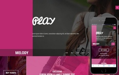Melody a Entertainment Category Flat Bootstrap Responsive web template