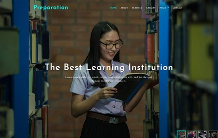 Preparation Education Category Bootstrap Responsive Web Template