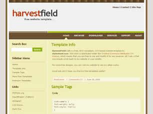 HarvestField 1.0 Free CSS Template