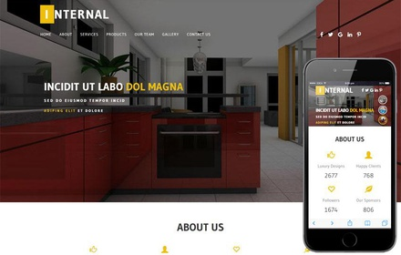 Internal an Interior Category Bootstrap Responsive Web Template