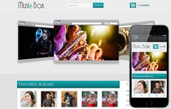 Music Box online music Mobile Website Template