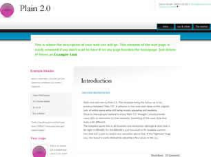 Plain 2.0 Free CSS Template