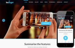 Bazinger a Mobile App based Flat Bootstrap Responsive web template