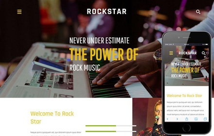 Rock Star a Entertainment  Flat Bootstrap Responsive Web Template