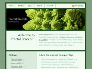 Fractal Broccoli Free CSS Template