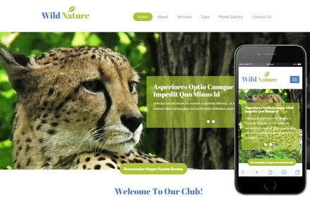 Wild Nature a Animal Category Flat Bootstrap Responsive Web Template