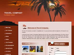 Travel Company Free CSS Template