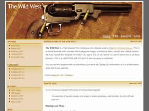 The Wild West Free CSS Template