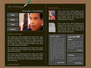 Book Author Free CSS Template