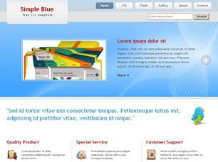Simple Blue Free CSS Template