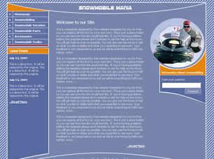 Snowmobile Mania Free CSS Template