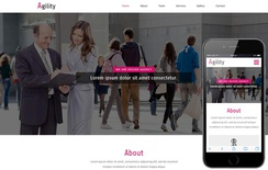 Agility a corporate Category Flat Bootstrap Responsive  Web Template