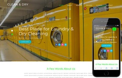 Clean and Dry Laundry Flat Bootstrap Responsive Web Template