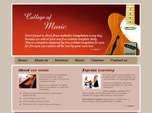 College of Music Free CSS Template