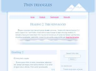 Twin Triangles Free CSS Template