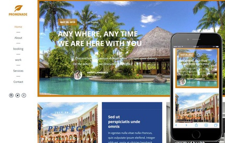 Promenade a Travel Guide Flat Bootstrap Responsive web template