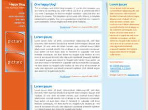 Happy Blog Free CSS Template