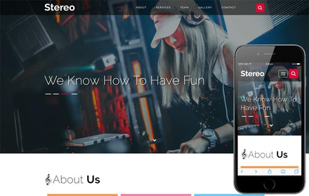 Stereo Entertainment Category Bootstrap Responsive Web Template