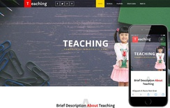 Teaching an Education School Category Flat Bootstrap Responsive Web Template