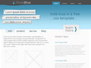 Forte Blue Free CSS Template