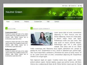 Neutral Green Free CSS Template
