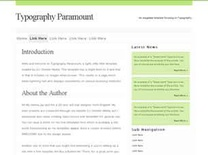 Typography Paramount Free CSS Template