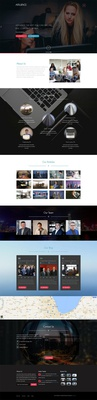 Affluence a Corporate Category Flat Bootstrap Responsive