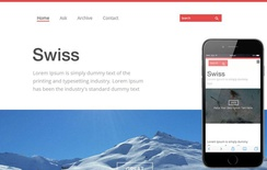 Swiss Single page Blogging Responsive website template