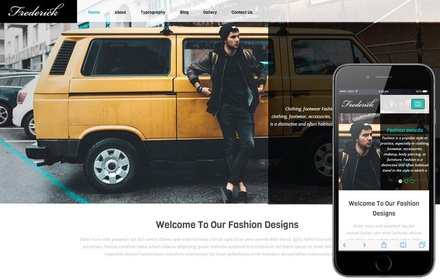 Frederick a Fashion Category Flat Bootstrap Responsive Web Template