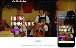 Wool Industry an Industrial Category Bootstrap Responsive Web Template