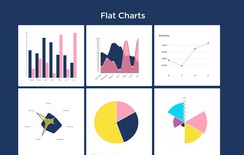 Flat Style Charts Responsive Widget Template