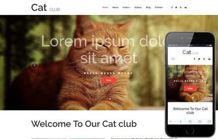 Cat Club an Animals and Pets Bootstrap Responsive Web Template