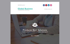 Global Business a Newsletter Category Responsive Web Template