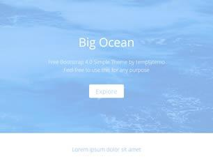 Ocean Free CSS Template