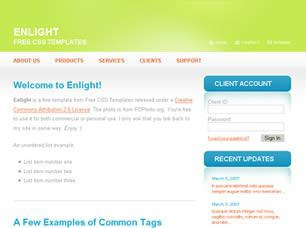 Enlight Free CSS Template