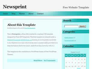 Newsprint Free CSS Template