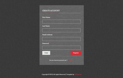 Inscription and Login Forms Widget Template
