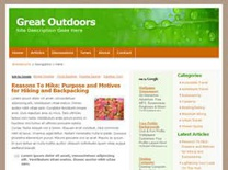 Great Outdoors Free CSS Template
