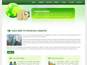 Financial Website Free CSS Template
